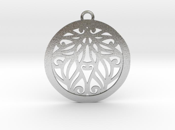Aria pendant metal 3d printed