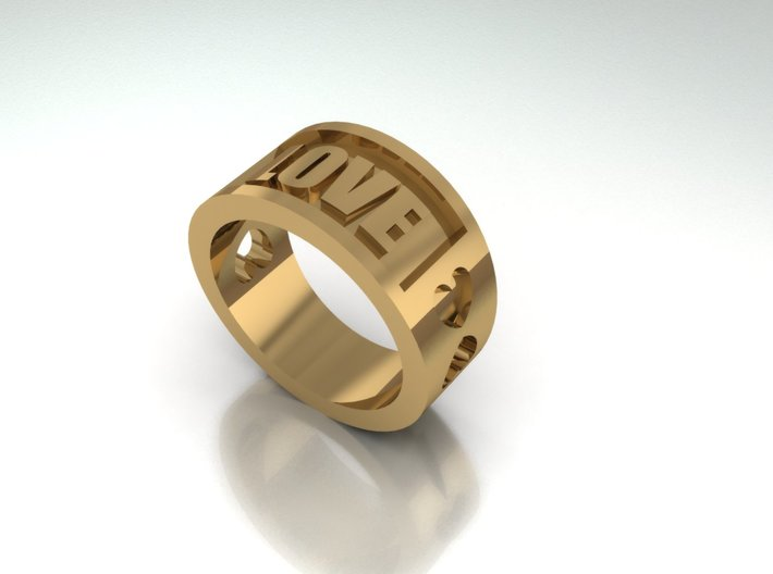 Love Ring By Jiang Yuan 3d printed Add a caption...