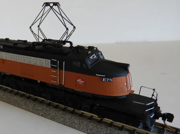 NScale EF4 Little Joe E78 (Rebuilt) Milwaukee  3d printed Shapeways modeller SteamMonster's outstanding build of this model with modified GG1 chassis