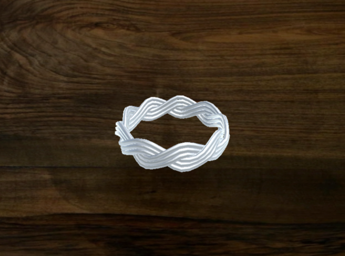 Turk's Head Knot Ring 2 Part X 9 Bight - Size 7 3d printed