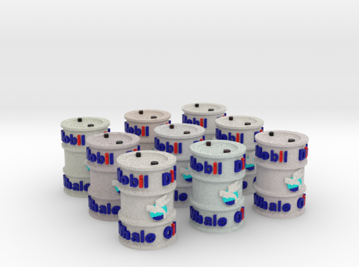 1-56 Full Color 9x Whale Oil Drum 3d printed