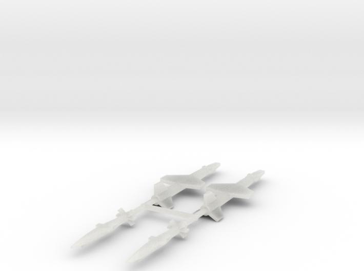 1/600 Experimental Aircraft Set 5 3d printed