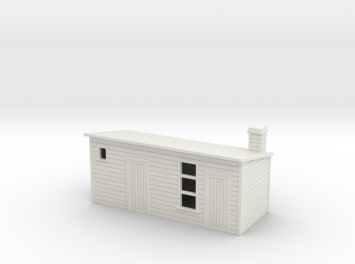 Outhouse For 2nd Old House 1:76 3d printed