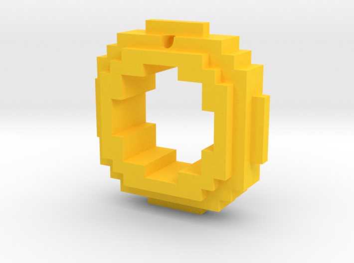 Classic Edition Gold Ring Keychain/Pendant Charm 3d printed
