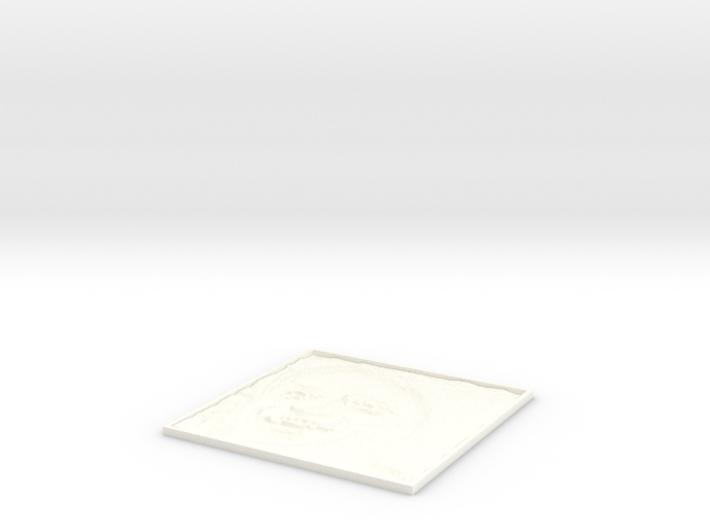 Carl Sagan Square Lithopane 3d printed
