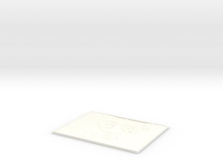 Hawking Square lithophane 3d printed