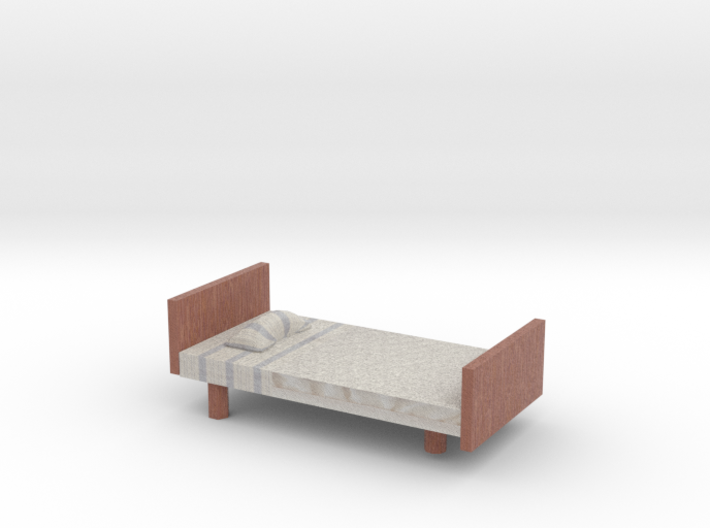 Bed with textures 3d printed