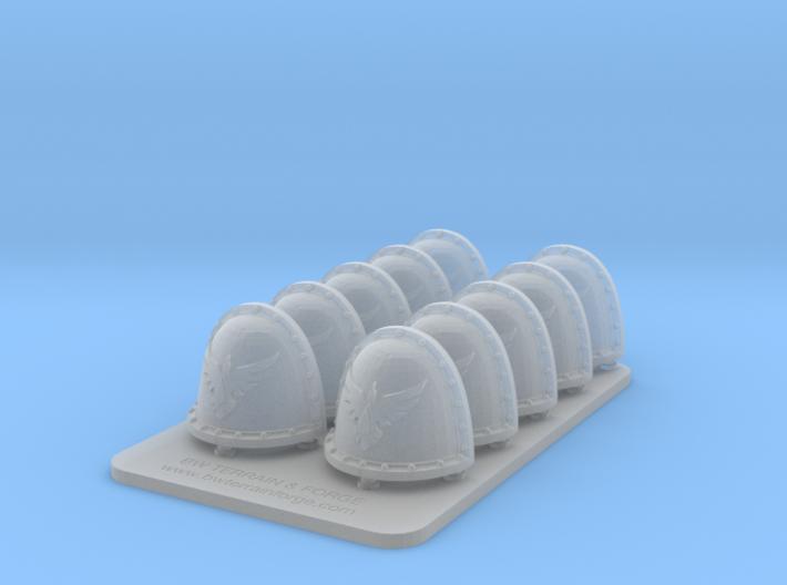 Bran Del Sangre V2 Crusade Style Shoulder Pads 3d printed