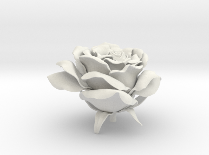 Rose head 3d printed
