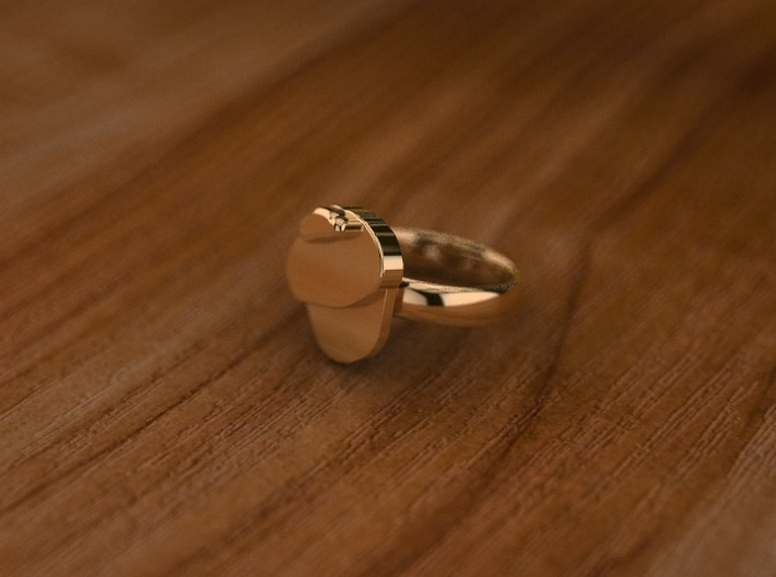 Pikabu Classical RIng 14k gold 6,5size  3d printed