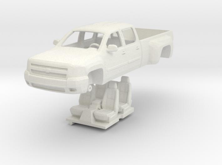 1:64 Chevy Silverado Crew Cab Dually 3d printed