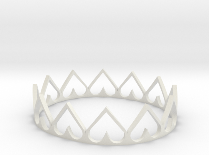 Heart Crown 3d printed