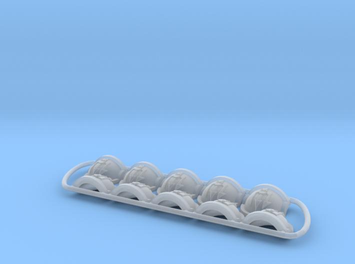 Ravenous ptrn Shoulder Pads: Emperor's Tridents 3d printed