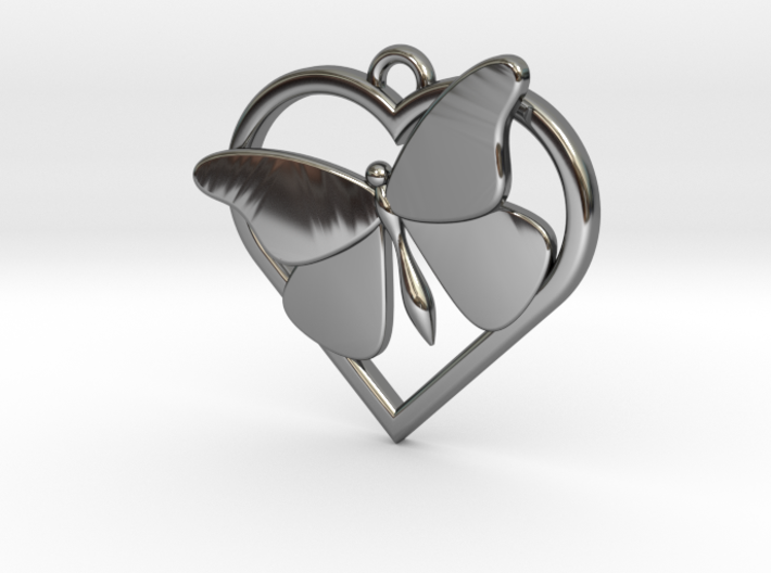 Heart Butterfly 3d printed