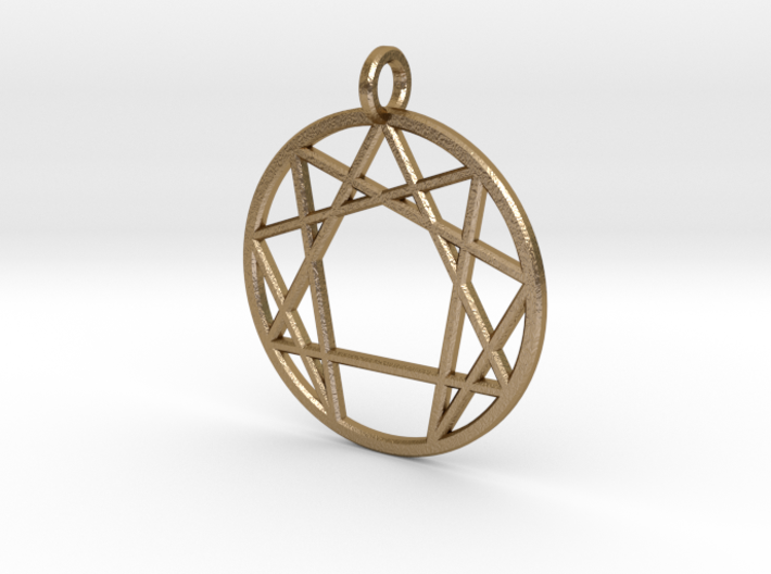 Holy Mountain Pendant 3d printed