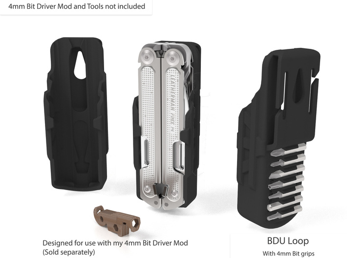 Holster, with Bit Grips, for FREE P2 3d printed P4 Holster shown to illustrate options. This is the P2 order page.