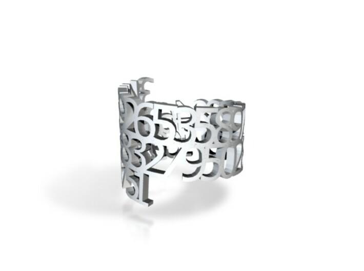 PI Metallic Napkin Ring 3d printed