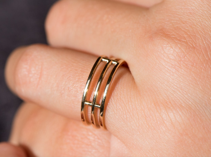 Minimalist Triple Band Ring Size 6 3d printed