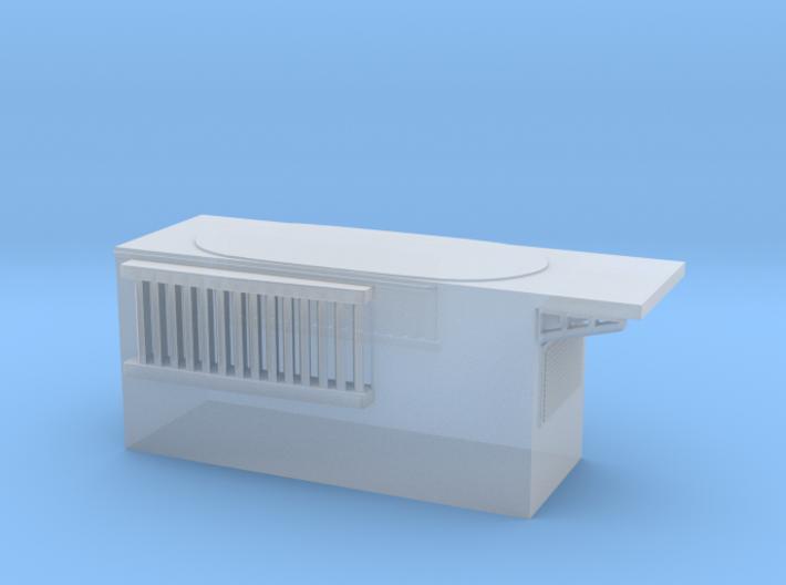 1/700 DKM Narvik-Klasse Z37 Forward Funnel Deck 3d printed