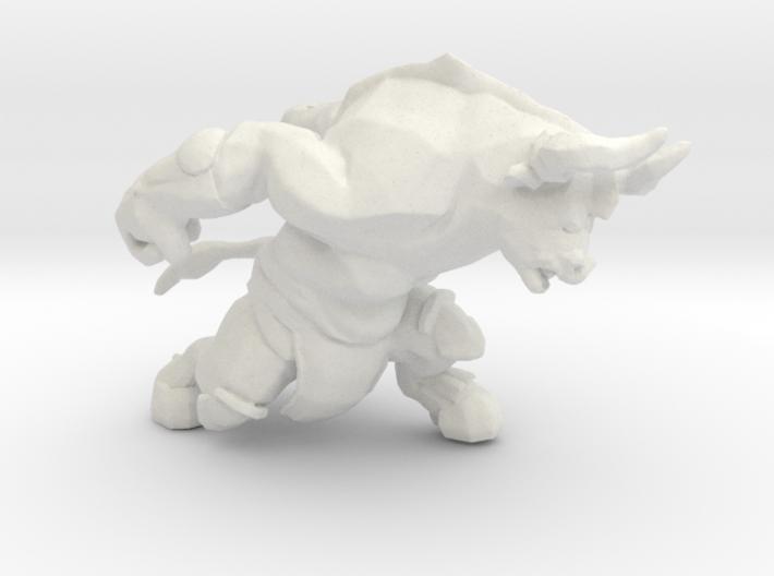 Minotaur charging DnD miniature games rpg dungeons 3d printed