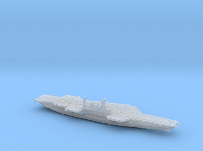 USS Midway (1992) w/Hanger, 1/1800 3d printed