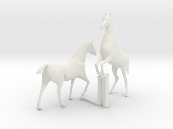 HO Scale Horses 4 3d printed This is a render not a picture