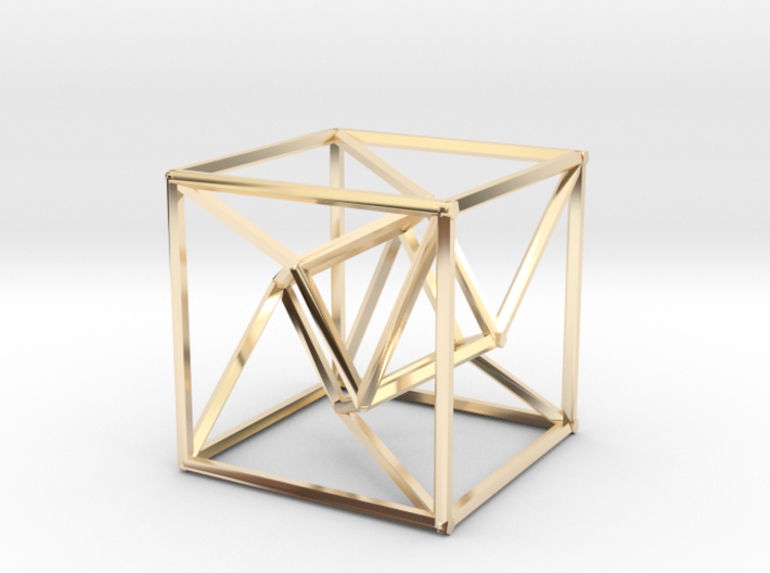Distorted Tesseract 3d printed