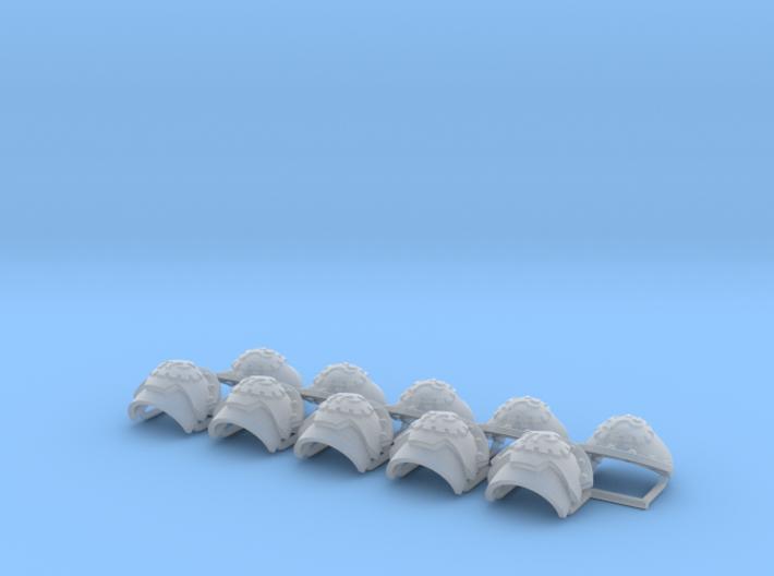 Honoris pattern shoulder pads: Crimson Talons 3d printed