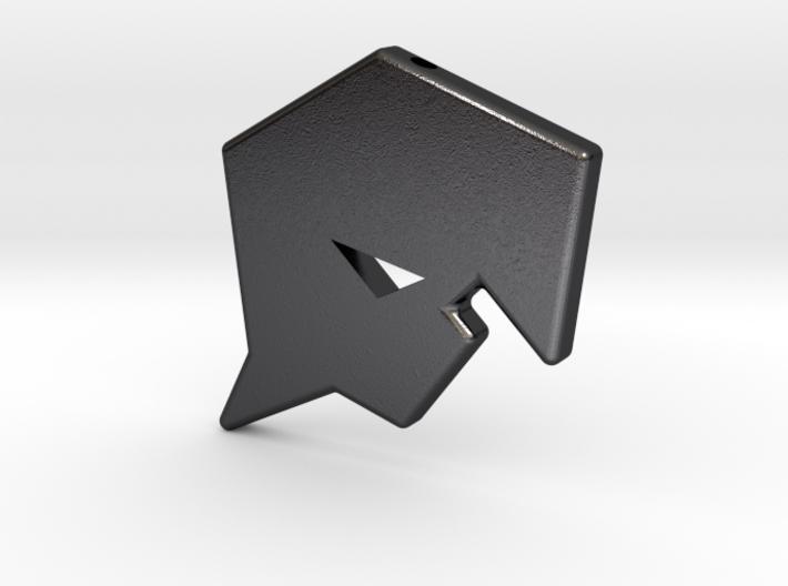 Burst Smooth Logo Charm 3d printed