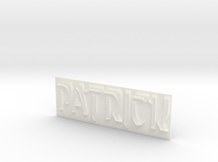Name Plate (Patrick) 3d printed