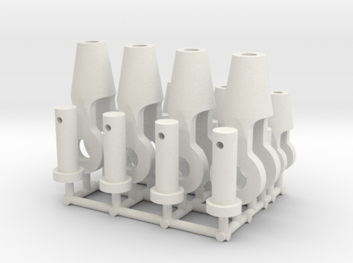 Open spelter sockets type S02 - 1:50 - 8X 3d printed