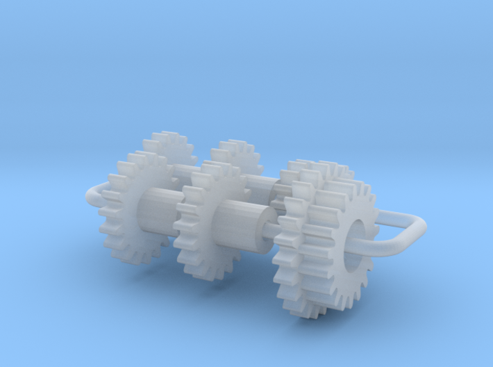 Bachmann N US 4-8-4 Axles & Gear (3rd Generation) 3d printed