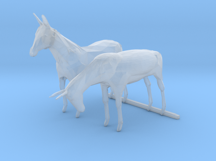 S Scale Mules 3d printed This is a render not a picture