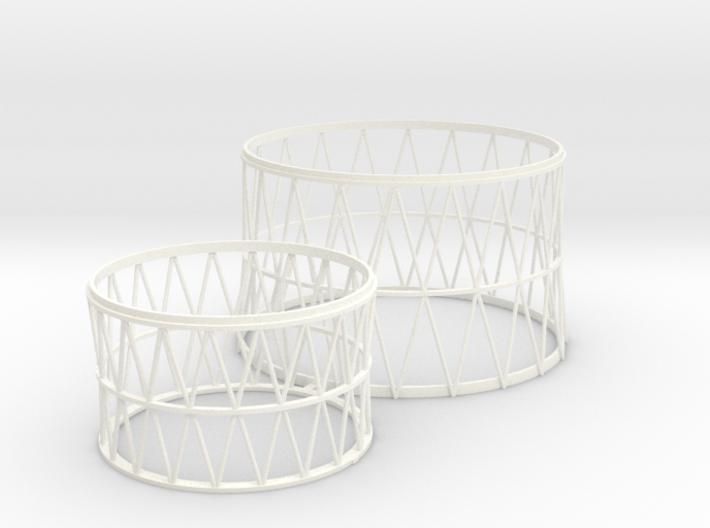1:100 scale lattice work for Soviet N1 3d printed