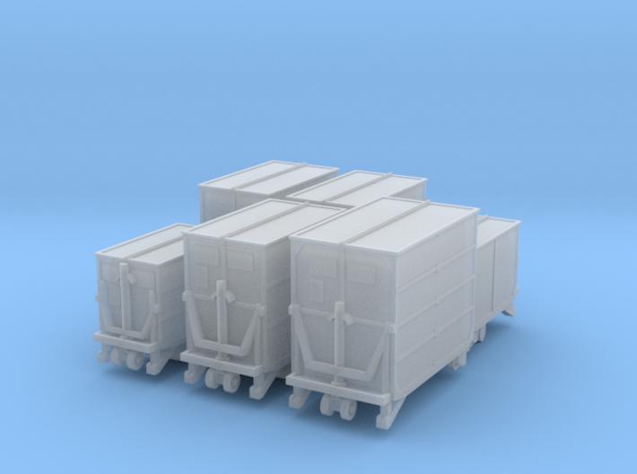 6 Kleinbehälter (TT 1:120) 3d printed