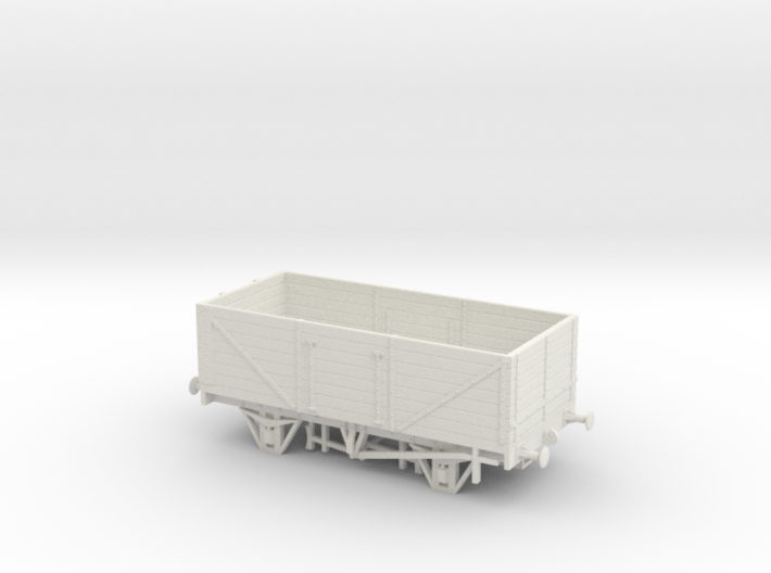 Private Owner Wagon: 18ft, 7 Plank, Side+End Doors 3d printed