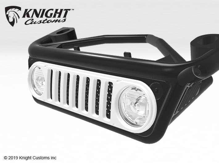 AC002 Axial Capra JK1 Grill 3d printed PLEASE NOTE: Grill shown painted.