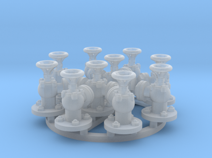 Deck Valve set 1/48 3d printed