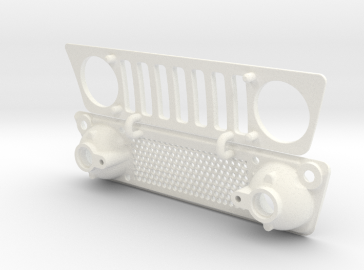 AC004 Axial Capra JK2 Grill 3d printed Part as it comes from Shapeways.
