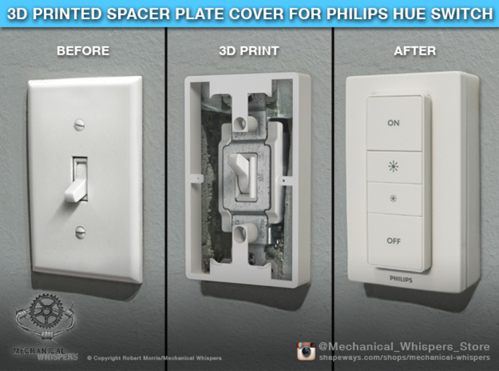 Philips Switch Toggle Plate (Set of 2 Discounted) 3d printed