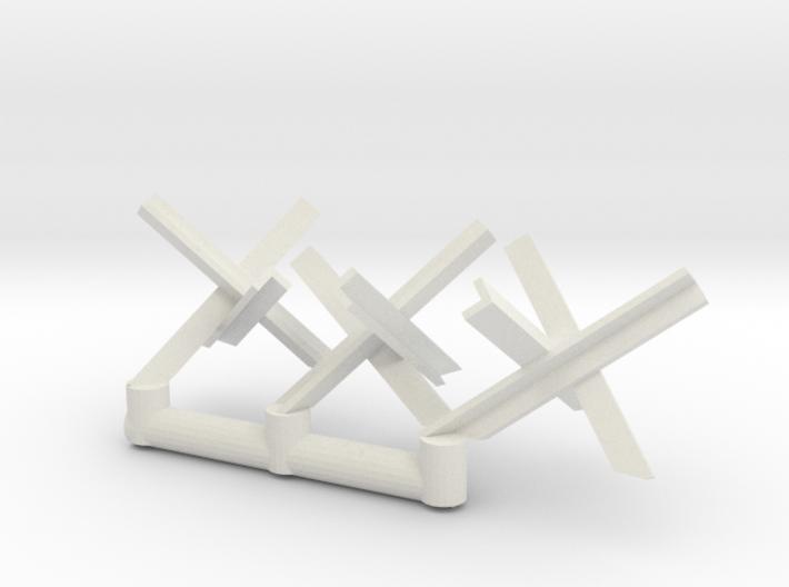 Tank Trap set (x3) 1/56 3d printed