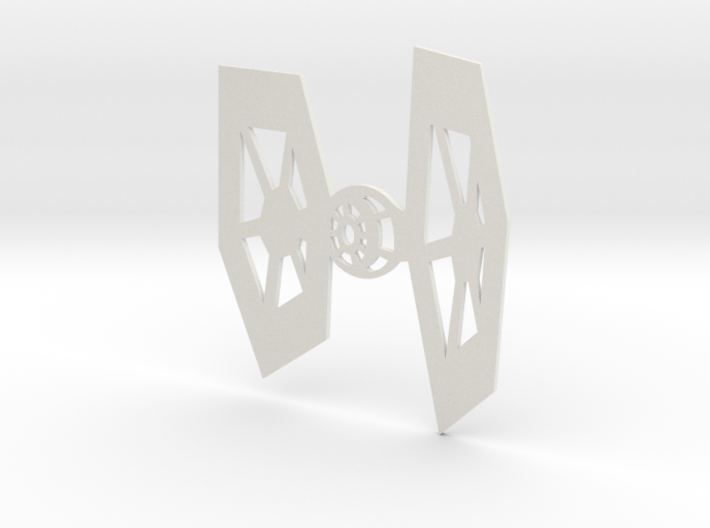 TIE Fighter Warship Wall Hanging 3d printed
