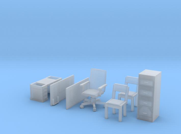 Office Furniture Set 3d printed
