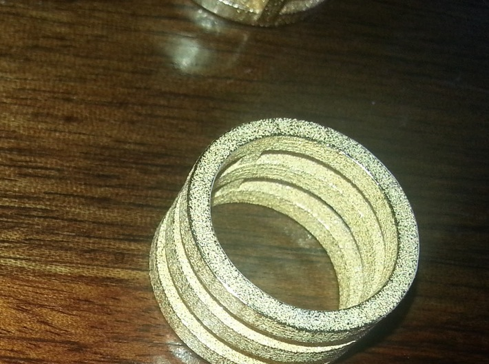 3 rings in one in 14K Gold or any material you wis 3d printed