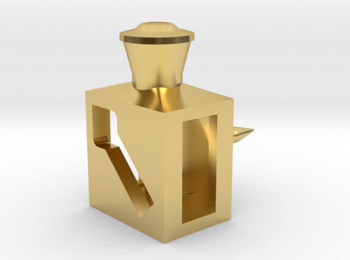 Weichenlaternen-Anstecknadel für das Revers 3d printed Rendering
