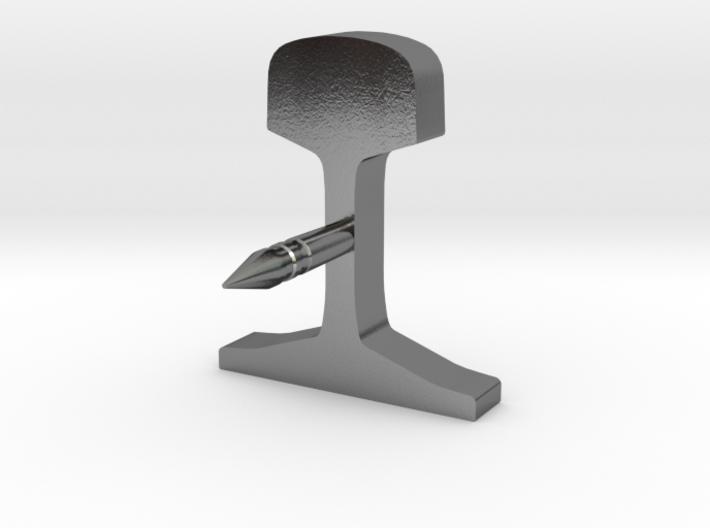 Schienenprofil S49 Anstecknadel für das Revers 3d printed Rendering