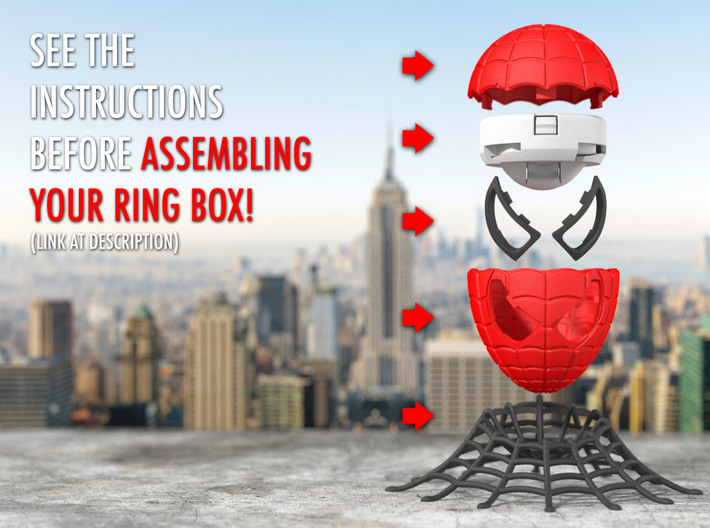 Spider Ring Box - Engagement and Proposal Ring Box 3d printed Insert Ring Holder and Stand sold separately.