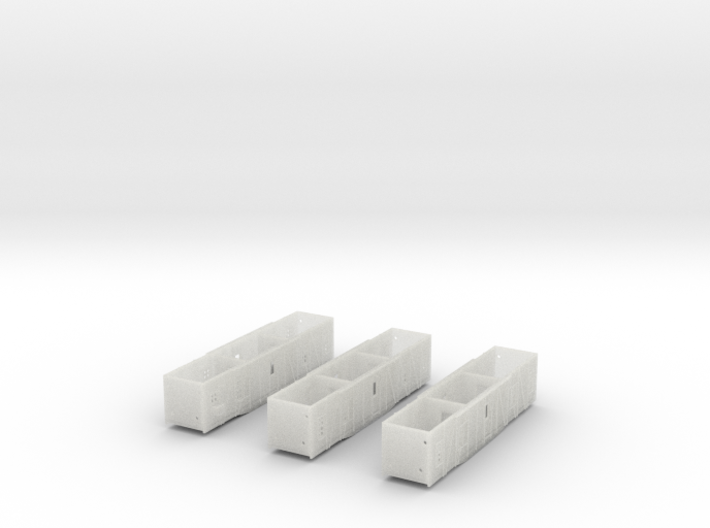 N-Scale UP Bunk Car - 3 Pack (In Development) 3d printed