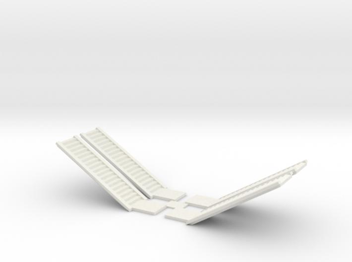 Concrete Stair Run 18 Risers (N scale) 3d printed