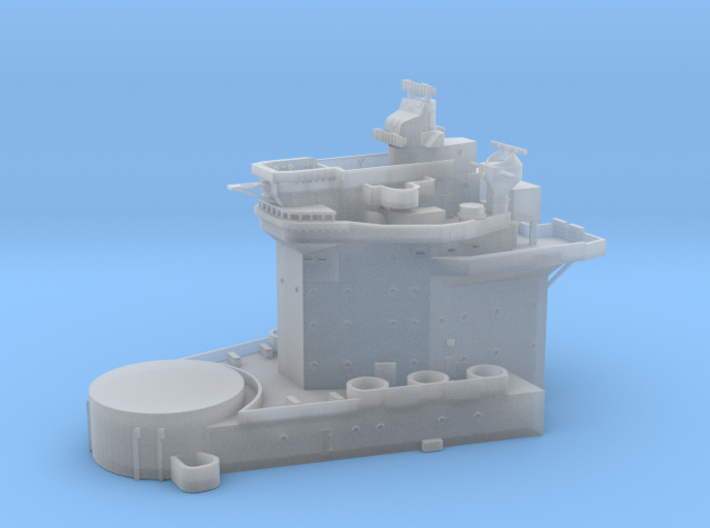 1/600 HMS Warspite Superstructure Fore 3d printed